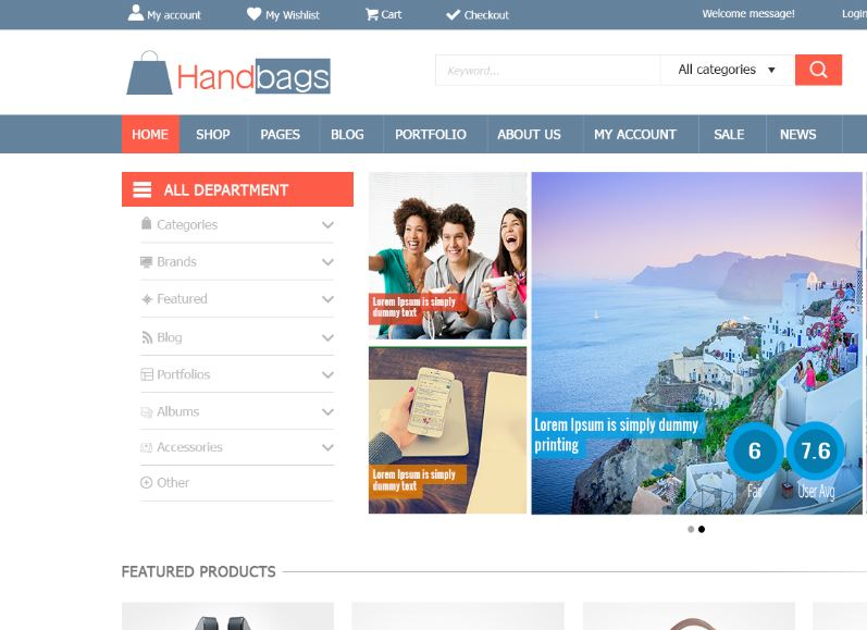 Download miễn layout psd shop 2015