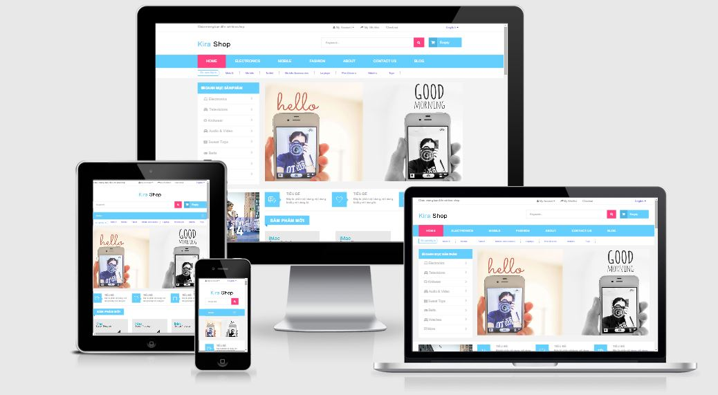 Share template html web shop, có reponsive