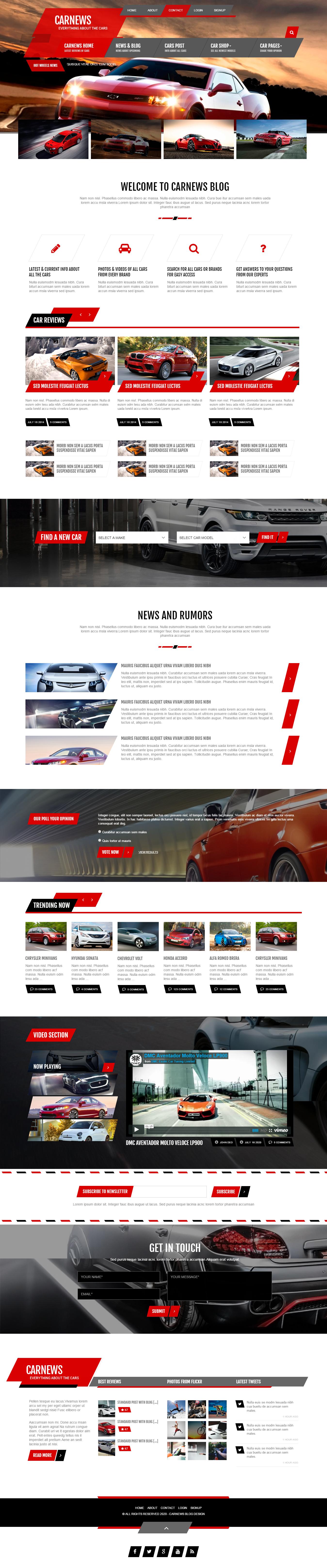 Share template html website xe ôtô đẹp mê ly, có reponsive