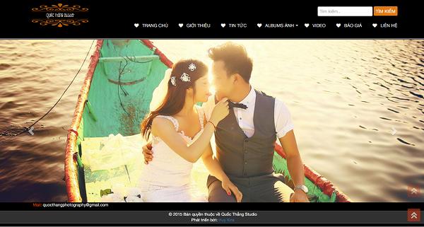 Share full code website studio, áo cưới bằng wordpress