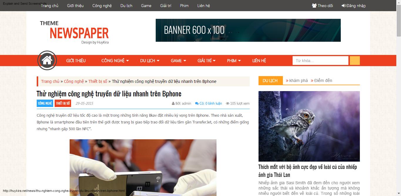 Code site tin tức