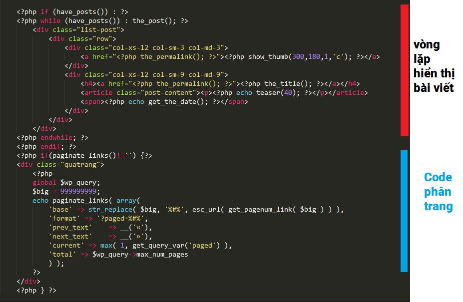 Code phân trang cho wordpress không cần plugin