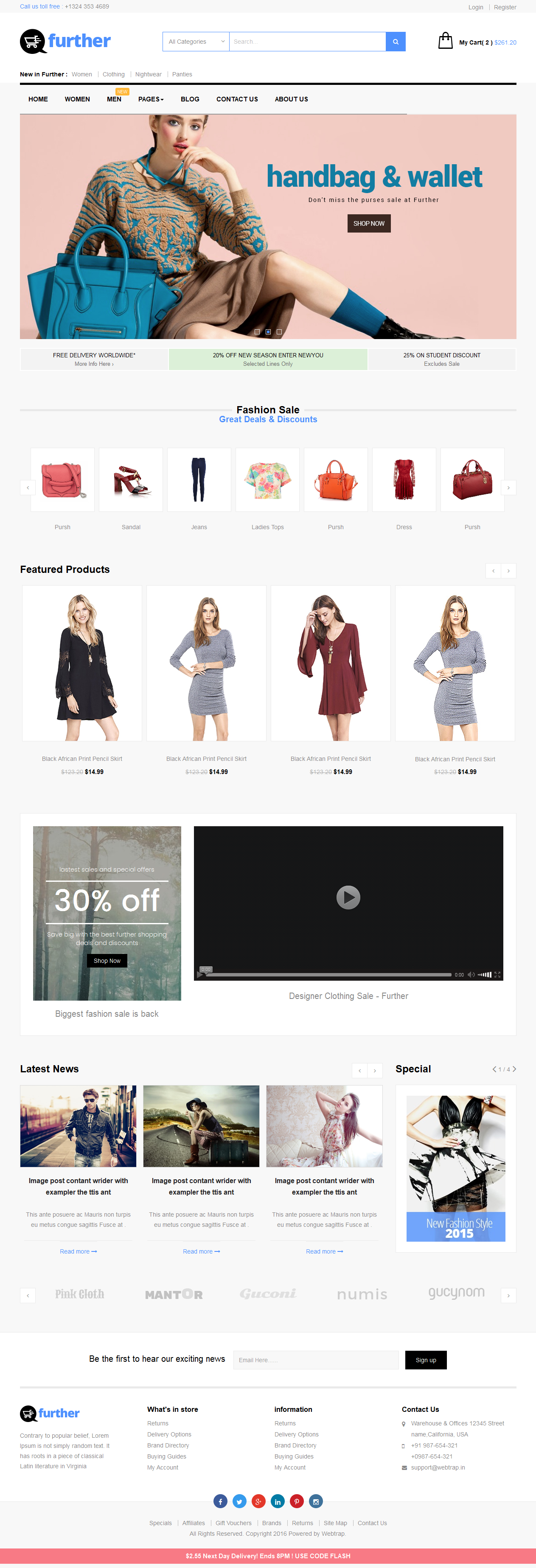 Share code html website shop thời trang online