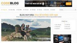 Sale full code wordpress website blog cá nhân