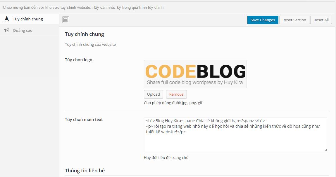 full code wordpress