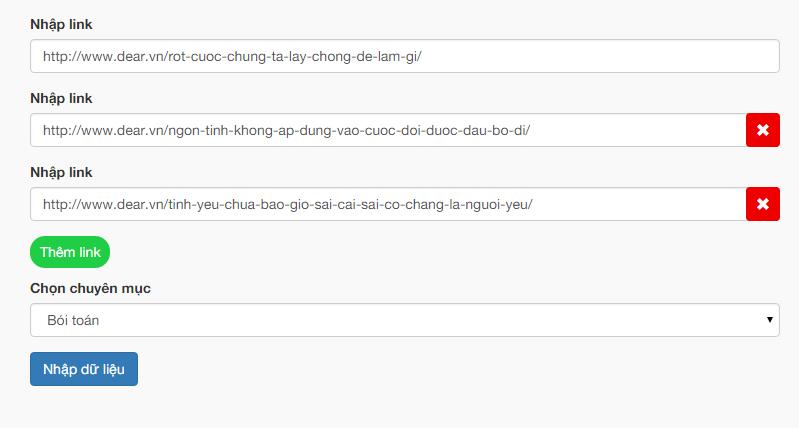 Tool post bài nhanh của code blog cá nhân