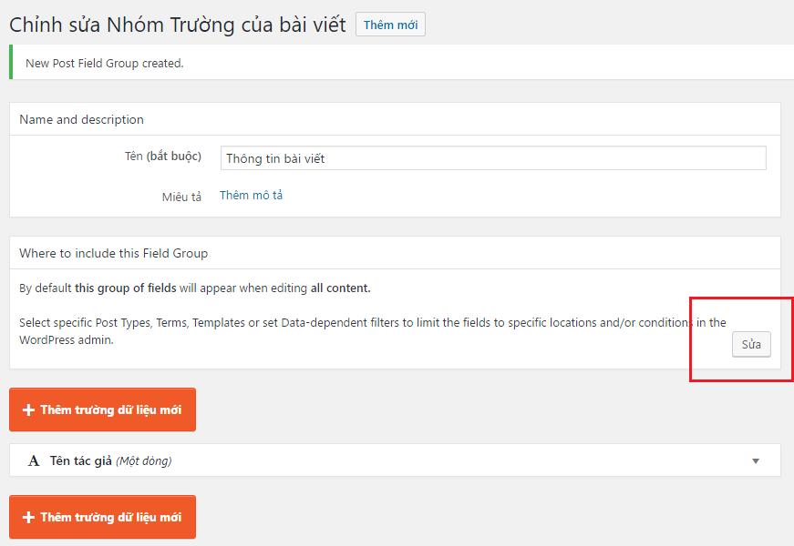 Hướng dẫn custom field trong wordpress với custom post type