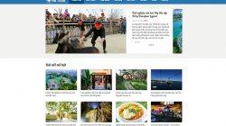 Share code tin tức du lịch sử dụng wordpress