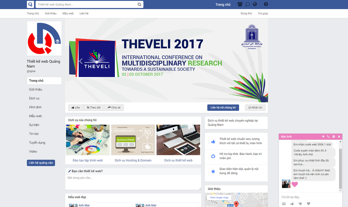 Thiết kế web wordpress giao diện facebook