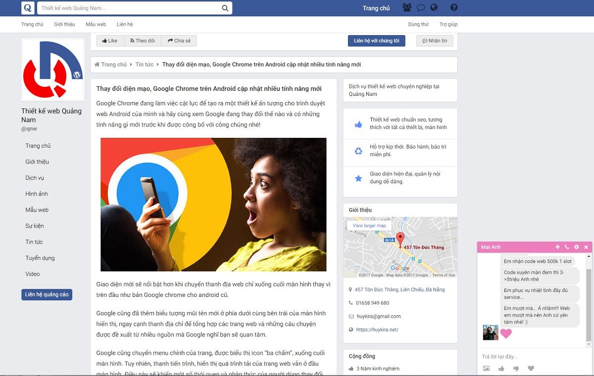 Giao diện facebook cho wordpress