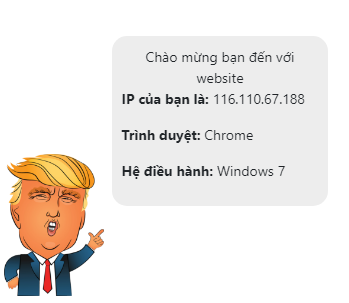 Share plugin Donald Trump