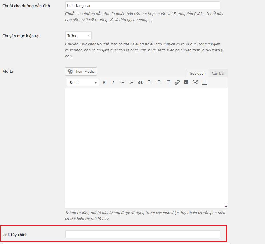 Hướng dẫn custom term meta trong wordpress