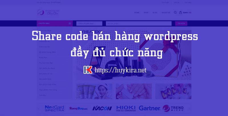 share  code bán hàng sử dụng wordpress