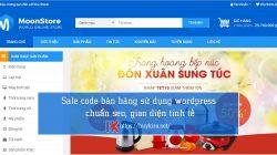 Sale code bán hàng sử dụng wordpress chuẩn seo, giao diện tinh tế
