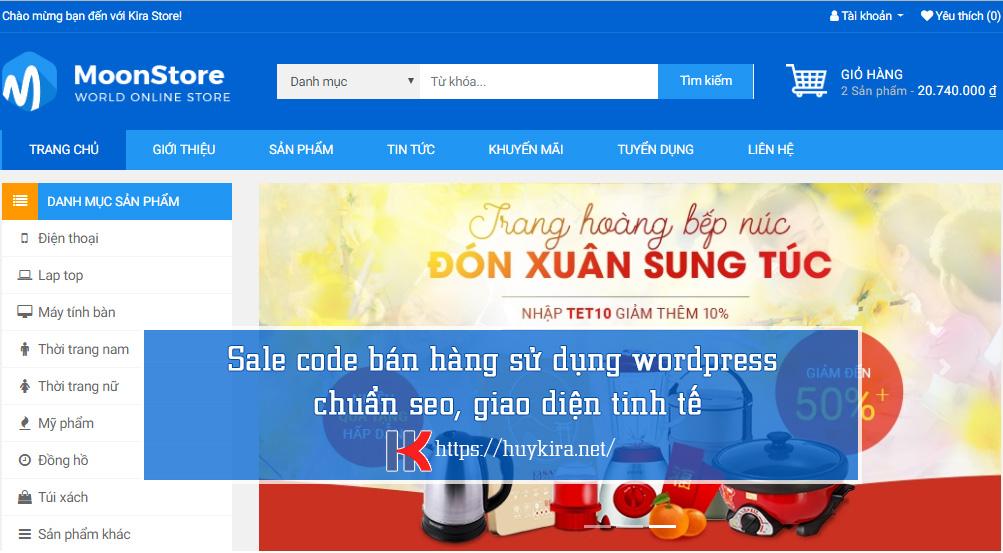 code bán hàng sử dụng wordpress