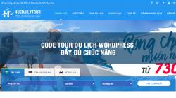 Code tour du lịch wordpress đầy đủ chức năng, giao diện cực đẹp