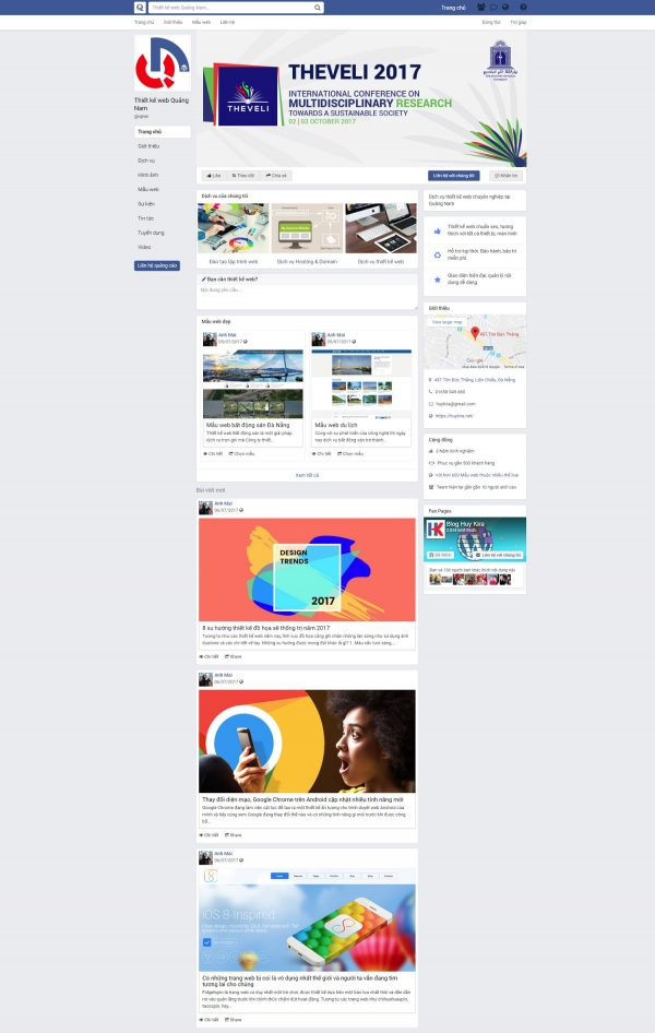 Mẫu website giao diện facebook