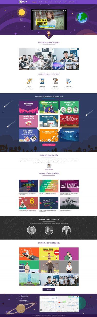 Mẫu website giới thiệu khóa học