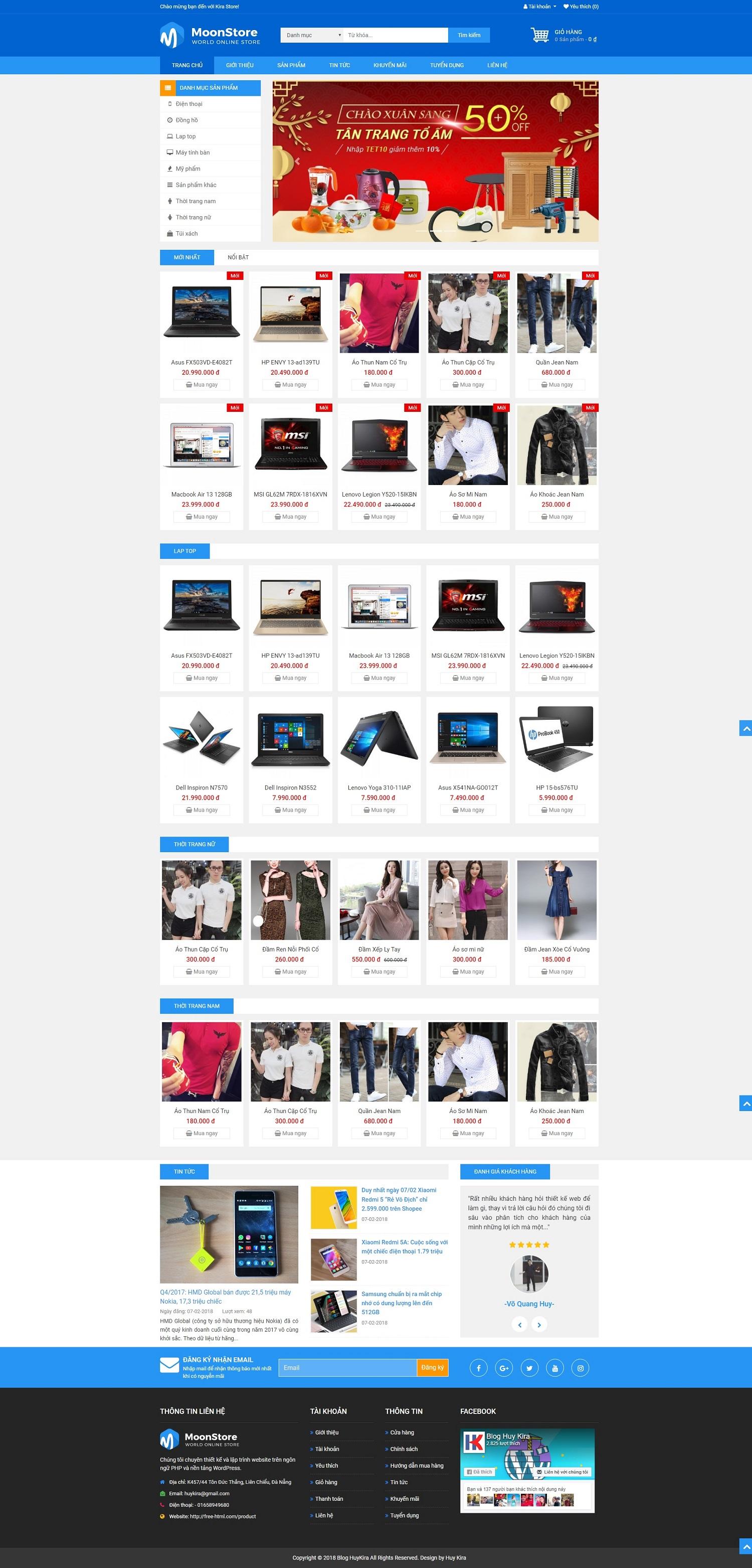Mẫu web bán hàng chuẩn seo