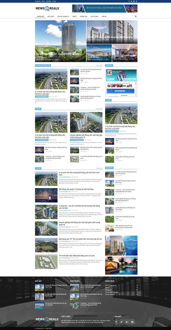 Mẫu web tin tức bất động sản