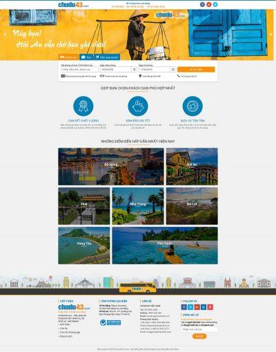 Mẫu website đặt phòng khách sạn