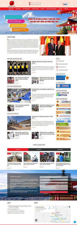 Mẫu website xuất khẩu lao động