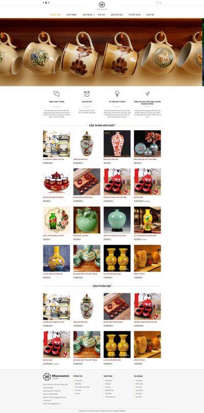 Mẫu website bán hàng Decor