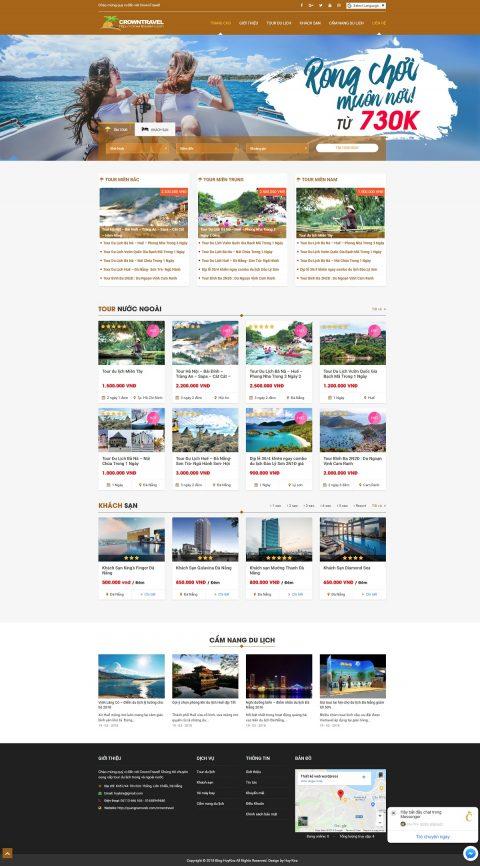 Mẫu website tour du lịch