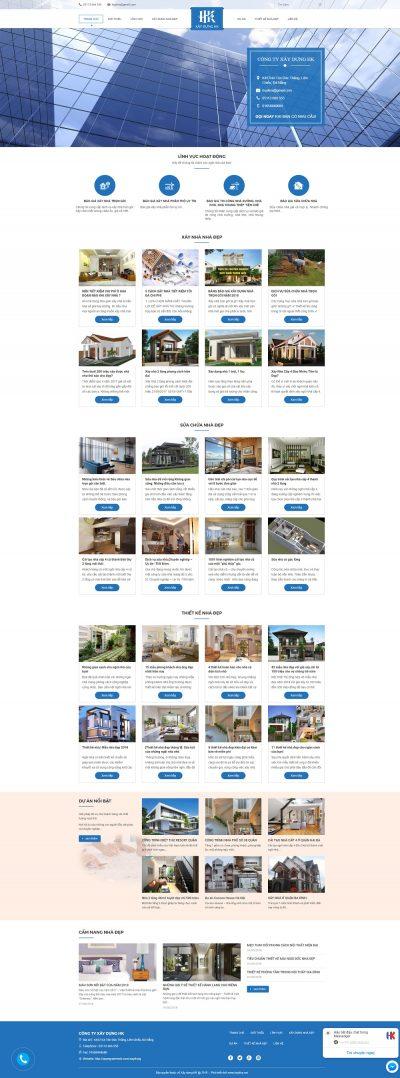 Mẫu website tin tức, công ty xây dựng