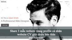 Share 3 mẫu website trang profile cá nhân website CV giới thiệu bản thân