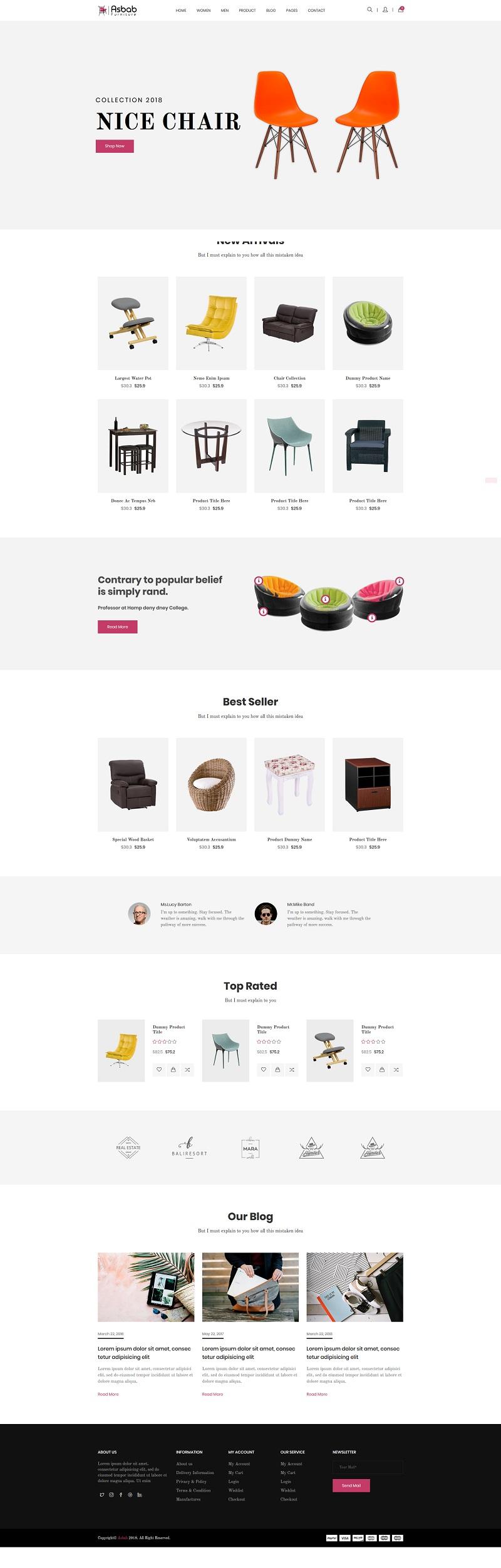 mẫu website bán hàng cực đẹp