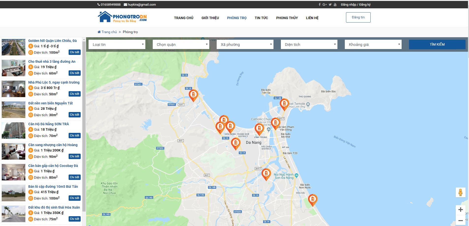 Thiển thị google maps trong wordpress sử dung google maps API