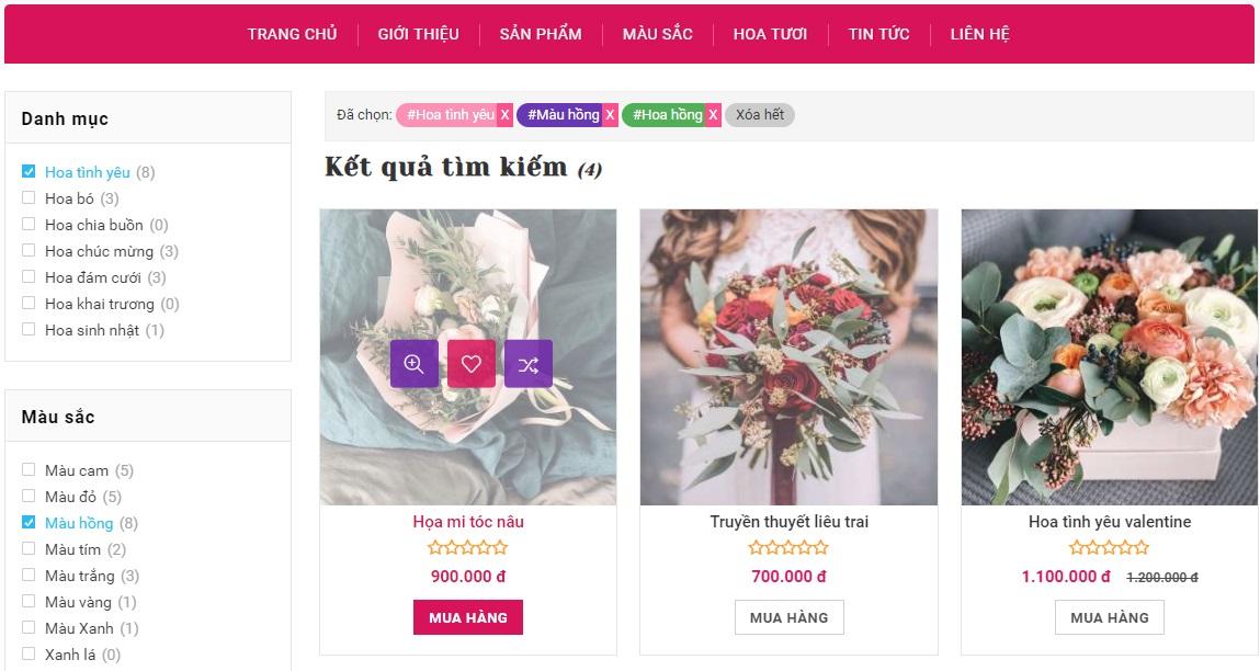 Full code bán hoa siêu đẹp sử dụng wordpress