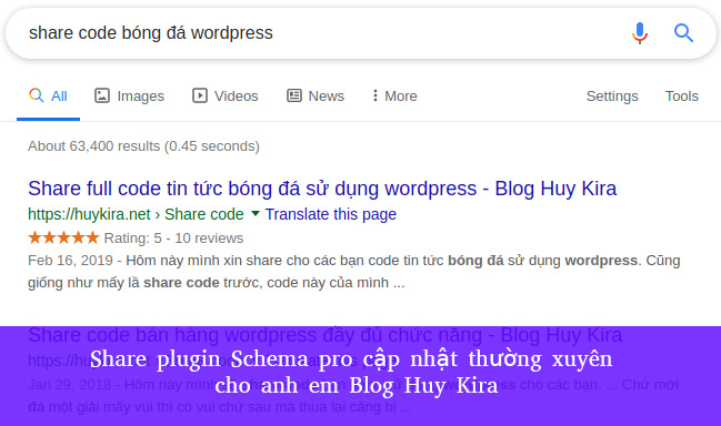 Share plugin Schema pro cập nhật thường xuyên cho anh em Blog Huy Kira