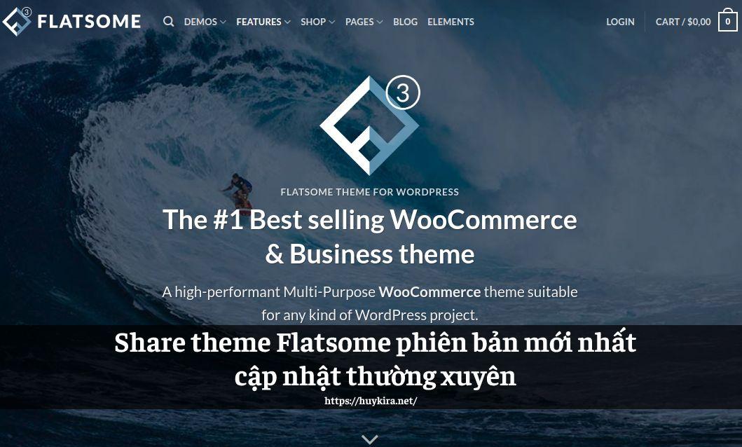 Share theme Flatsome phiên bản mới nhất cập nhật thường xuyên
