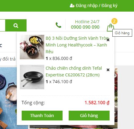 Instructions for displaying products in the WooCommerce shopping cart